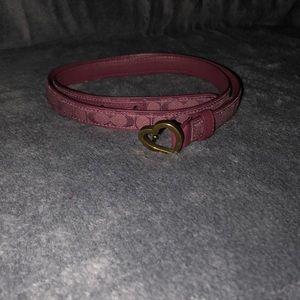 Coach Fabric Print Belt Buckle.